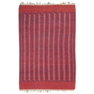Turkmen Flat-Woven Main Carpet For Sale