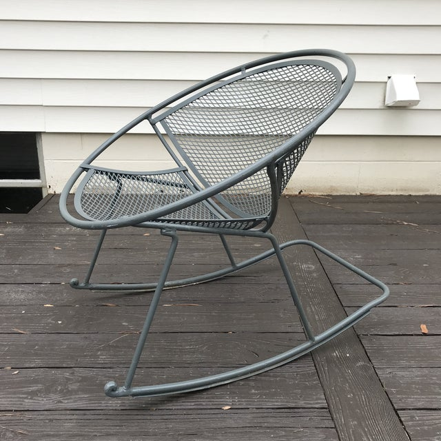 Mid-Century Modern Salterini Rocking Chairs, a Pair For Sale - Image 3 of 12