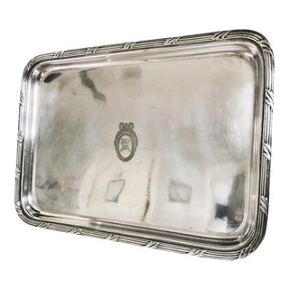 1928 Silver Plated Tray From the St Regis Hotel NYC For Sale