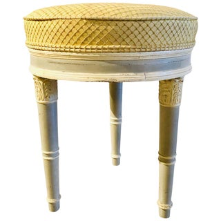 Swedish Louis XVI Style Paint Decorated Foot Stool or Bench For Sale