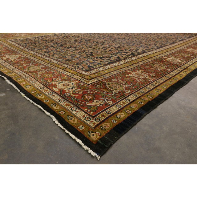 Late 19th Century Antique Persian Sultanabad Palace Rug- 10′2″ × 16′4″ For Sale In Dallas - Image 6 of 9