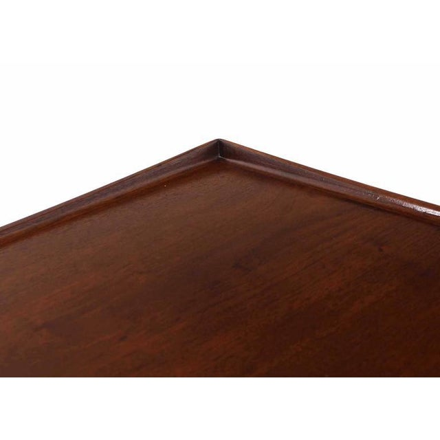 Danish Modern Teak Square Rolled Edge Coffee Table For Sale - Image 4 of 9