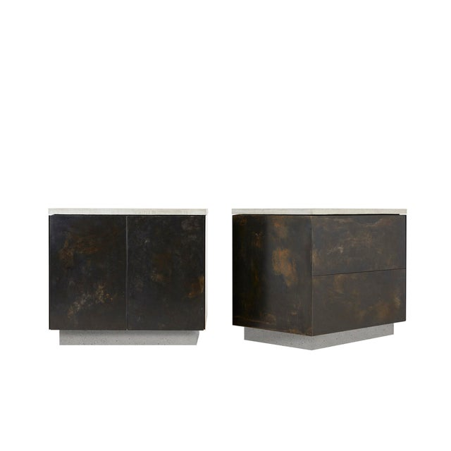 Stefan Rurak s.o. Side Table With Cabinet Doors For Sale - Image 4 of 5