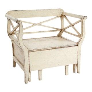 19th C. Antique Pine Swedish Bench