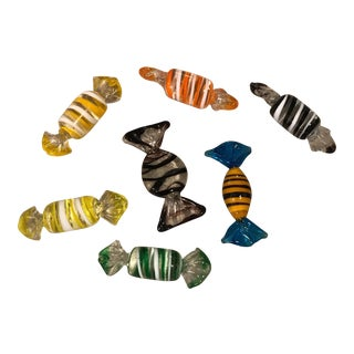 Murano Glass Candy Figurines - Set of 7