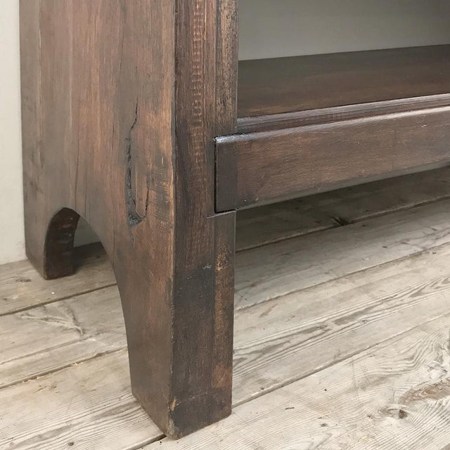 Antique French Gothic Low Buffet - Console - Sofa Table For Sale - Image 9 of 13