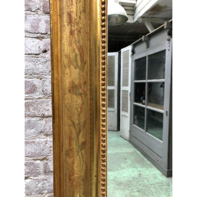 Gold French Louis Philippe Mirror , 19th Century For Sale - Image 8 of 9