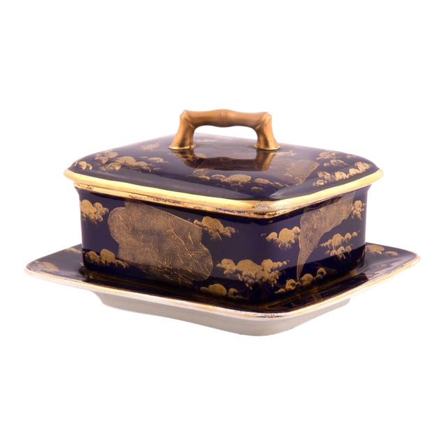 American Aesthetic Movement Porcelain Box by Ott & Brewer For Sale