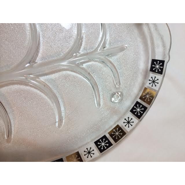Vintage Inland Glass Atomic Starburst Meat Platter For Sale - Image 5 of 7