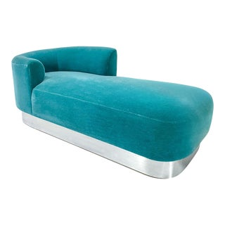 Steve Chase Chaise on Chrome Base For Sale
