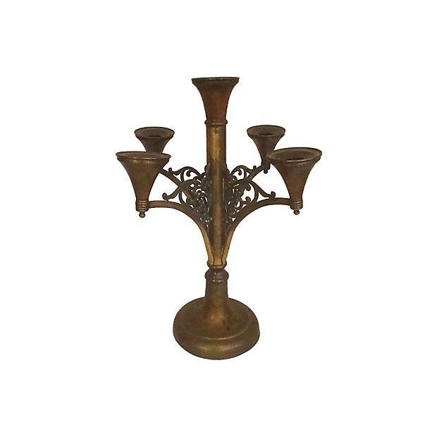 Antique Rogers Silver Co. Copper & Brass Candelabra For Sale In Richmond - Image 6 of 6
