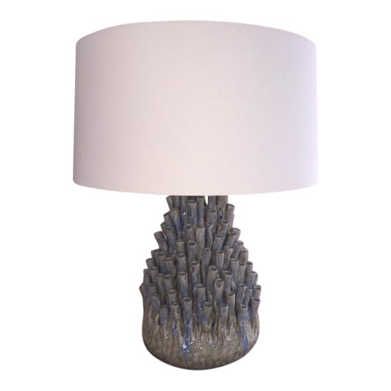 Sea Anemone Ceramic Table Lamp For Sale