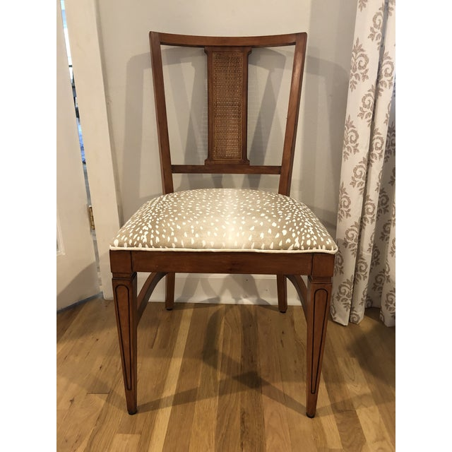 Sand Mid Century Rock Maple Side Chair by R Way For Sale - Image 8 of 8