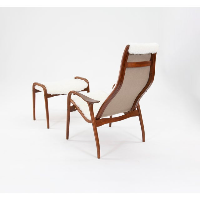 Swedese Mobler Vintage Yngve Ekstrom for Swedese Lamino Chair and Ottoman For Sale - Image 4 of 13