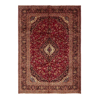 One-Of-A-Kind Persian Hand-Knotted Area Rug, Carmine, 9' 8 X 13' 7 For Sale