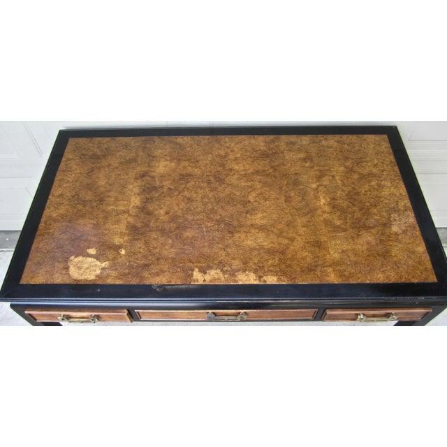 Raymond Sobota Century Furniture Burl Wood Black Lacquer Writing Desk For Sale - Image 9 of 12