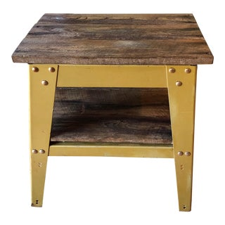 Industrial Barn Wood Side Table