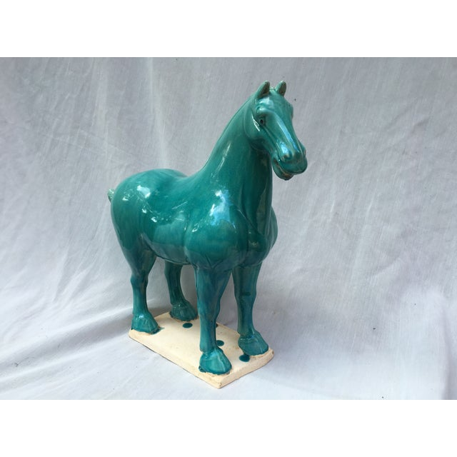 Chinese Tang Style Turquoise Horse - Image 3 of 6