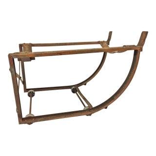 Vintage Industrial Salvaged Barrel Platform Cart For Sale