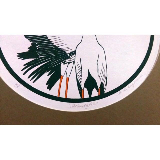 Art Deco B.B. La Femme Waterbird Artist Proof Serigraphs- S/3 For Sale - Image 3 of 7