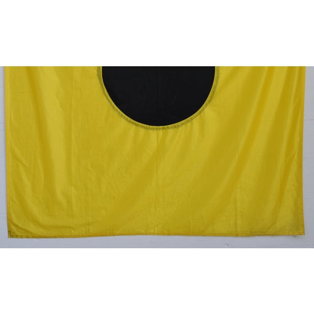 "Abstract Large Vintage Maritime Nautical Naval Signal ""I"" Flag - 67"" X 55"" For Sale - Image 3 of 6"