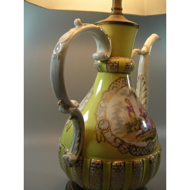18th Century Meissen Porcelain Pitcher Mounted as Lamp For Sale In New York - Image 6 of 13