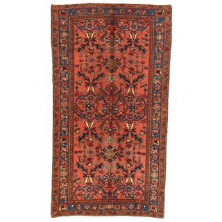 1920s Semi-Antique Persian Sultanabad Wool Rug - 3′6″ × 6′6″ For Sale