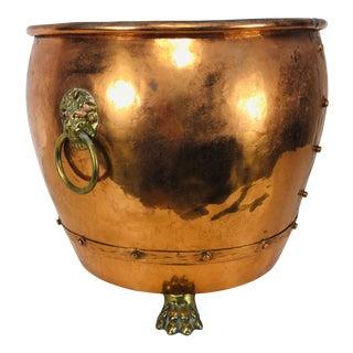 English Handmade Copper Planter For Sale