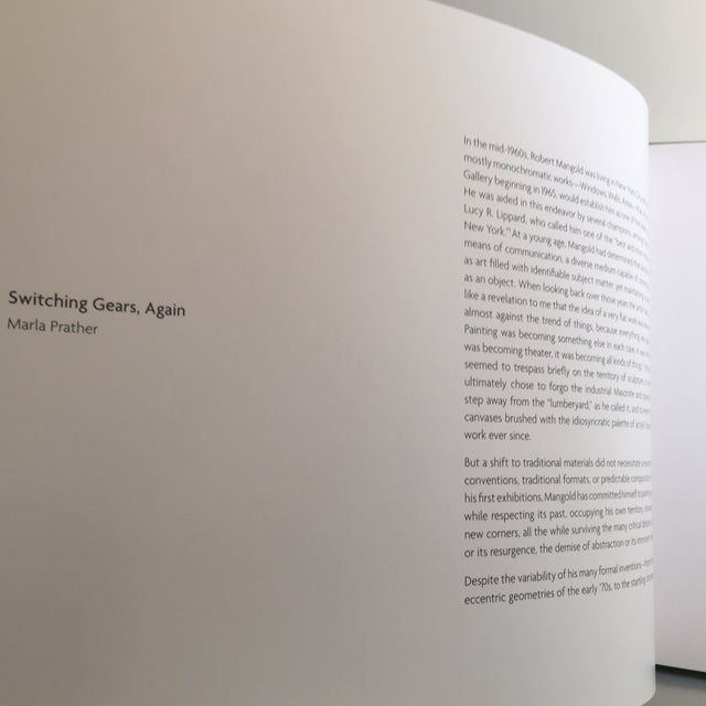 Abstract Robert Mangold Pace Gallery Coffee Table Book For Sale - Image 3 of 10