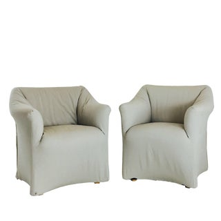 Pair of Tentazione Lounge Chairs for Cassina by Mario Bellini For Sale
