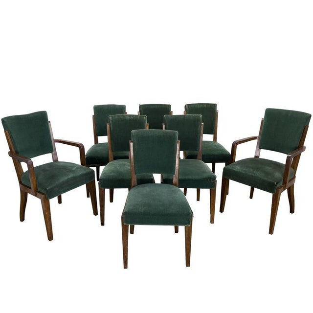 Set of Eight Dining Chairs, French, 1930s - Image 11 of 11