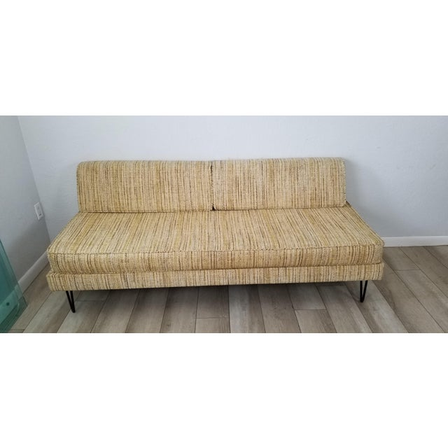 George Nelson for Herman Miller Convertible Daybed Sofa With Hairpin Legs . For Sale - Image 11 of 13