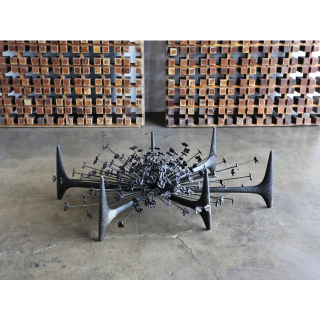 Daniel Gluck Sculptural Coffee Table Circa 1970 For Sale - Image 12 of 12