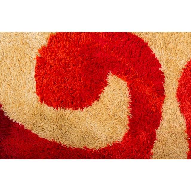 1960s Scandinavian Modern Op Art Shag Area Rug - 8′1″ × 11′5″ For Sale In Los Angeles - Image 6 of 8