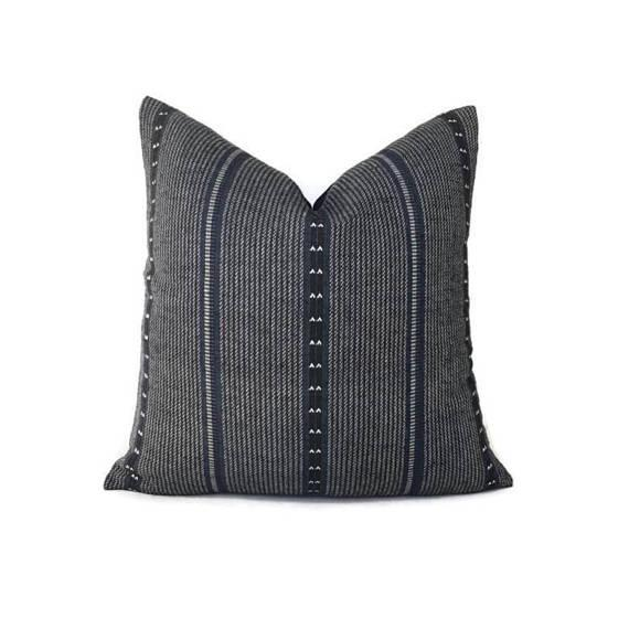 Navy Blue Zak & Fox Poncho Pillow Cover For Sale - Image 4 of 4