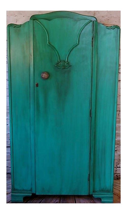 Armoire, Wardrobe, Closet, Bedroom Furniture, Painted Furniture, Vintage  Furniture, Teal, Dresser, Nursery Furniture, Boho