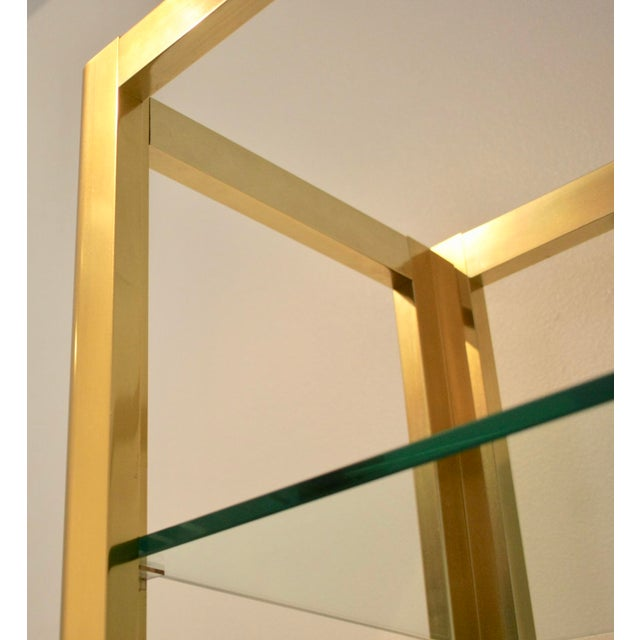 Milo Baughman Style Brass Etagere Shelving Unit For Sale - Image 5 of 11