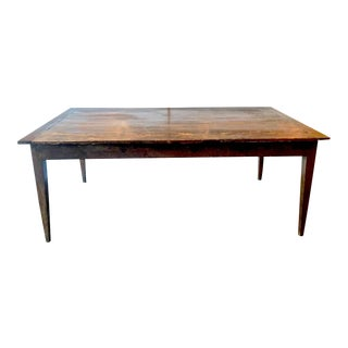 French Oak Farm Table, Mid-19th Century For Sale