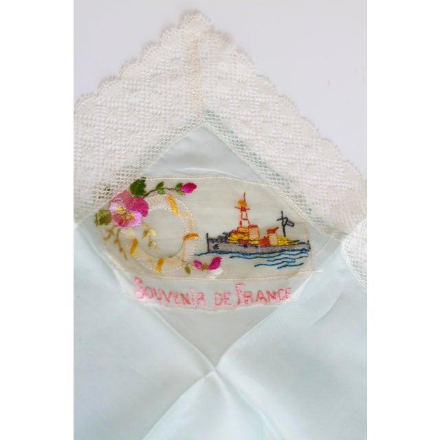 "World War I ""Souvenir De France"" Silk Handkerchief - Image 4 of 11"