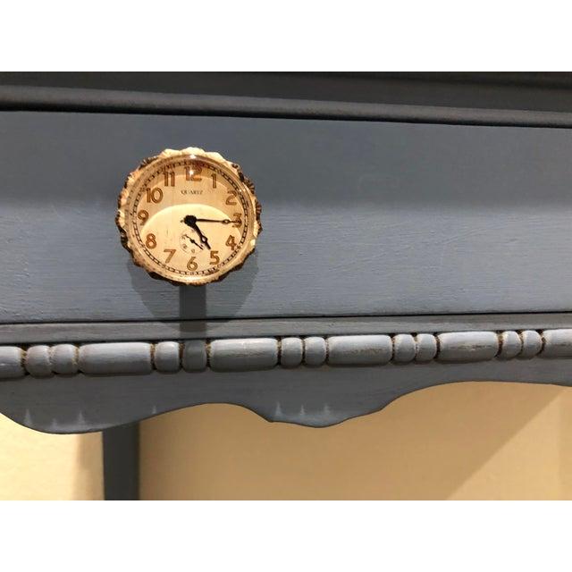 Blue Antique Victorian Refurbished Writing Desk For Sale - Image 8 of 11