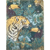"""Image of Hand Painted French Panel """"Tiger and Toucan """" For Sale"""