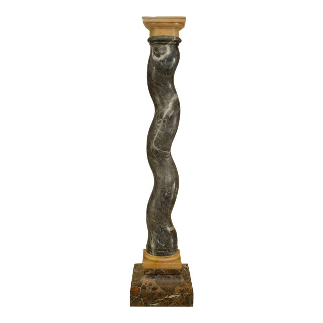 Italian Neoclassical Solomonic Column Pedestal For Sale