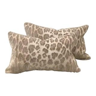 Cowtan & Tout Epingle Jaguar Velvet Lumbar Pillows - A Pair For Sale