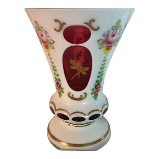 Vintage Czechoslovakian Glass Vase