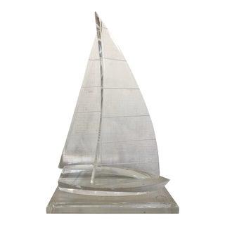 Vintage Lucite Sailing Boat