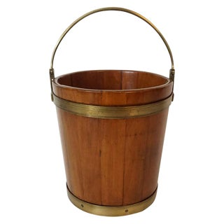 George III Mahogany and Brass Bucket For Sale