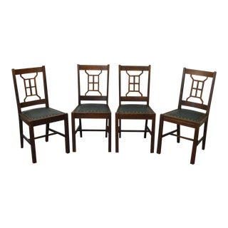 Antique Mission Style Michigan Chair Co. Dining Chairs - Set of 4 For Sale