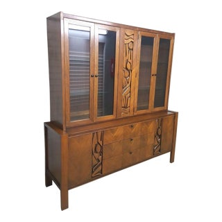 United Furniture Company Brutalist Credenza Cabinet For Sale