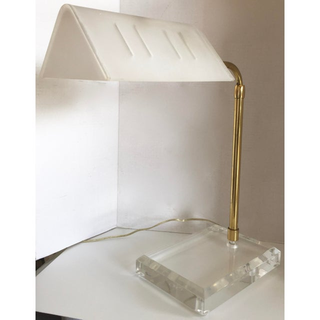 Bauer Lucite & Brass Desk Lamp - Image 6 of 9