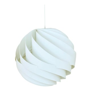 Late 20th Century Large Turbo Pendant Lamp by Louis Weisdorf For Sale